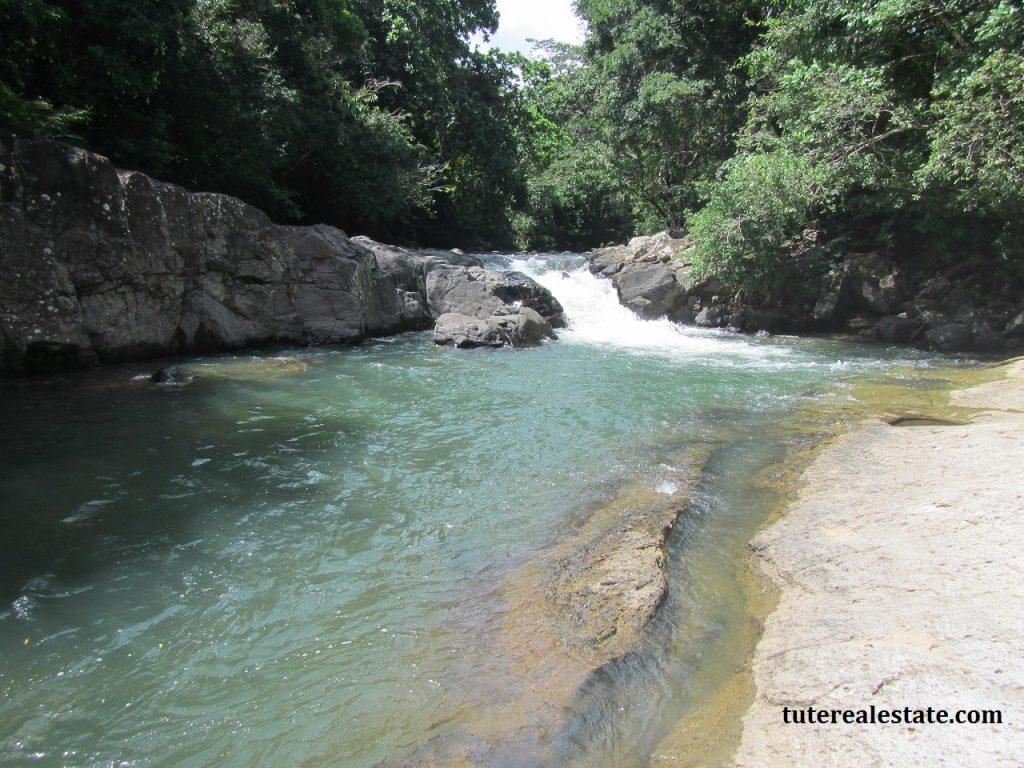 swimming hole river las lajas santa fe