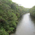 River Santa Maria below the lot.
